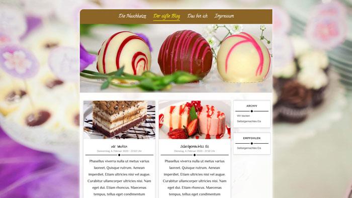 Modernes Webdesign Template