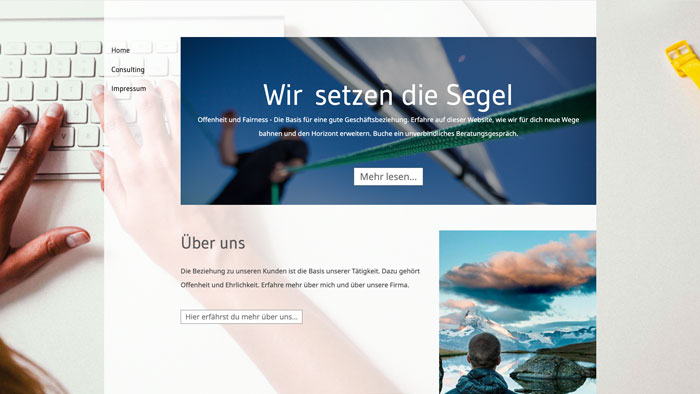 Webdesign pur